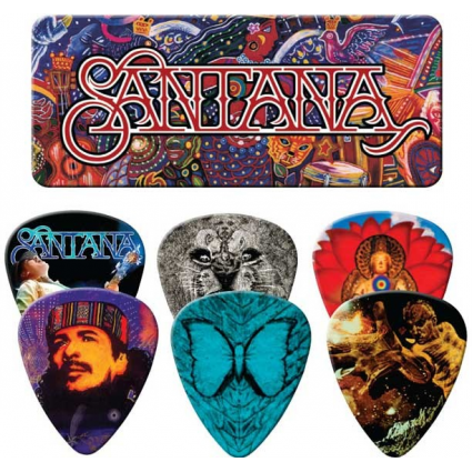 Guitar Master Carlos Santana Supernatural 6 Piece Painted Dunlop Guitar Picks