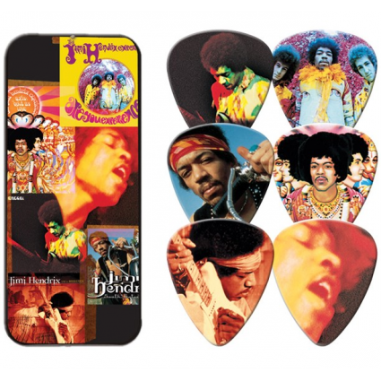 Iconic Rock n Roll Guitar Genius Jimi Hendrix Officially Licensed Decorated Dunlop Guitar Picks