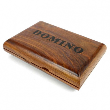 Wooden Handmade Domino Box And Dominoes