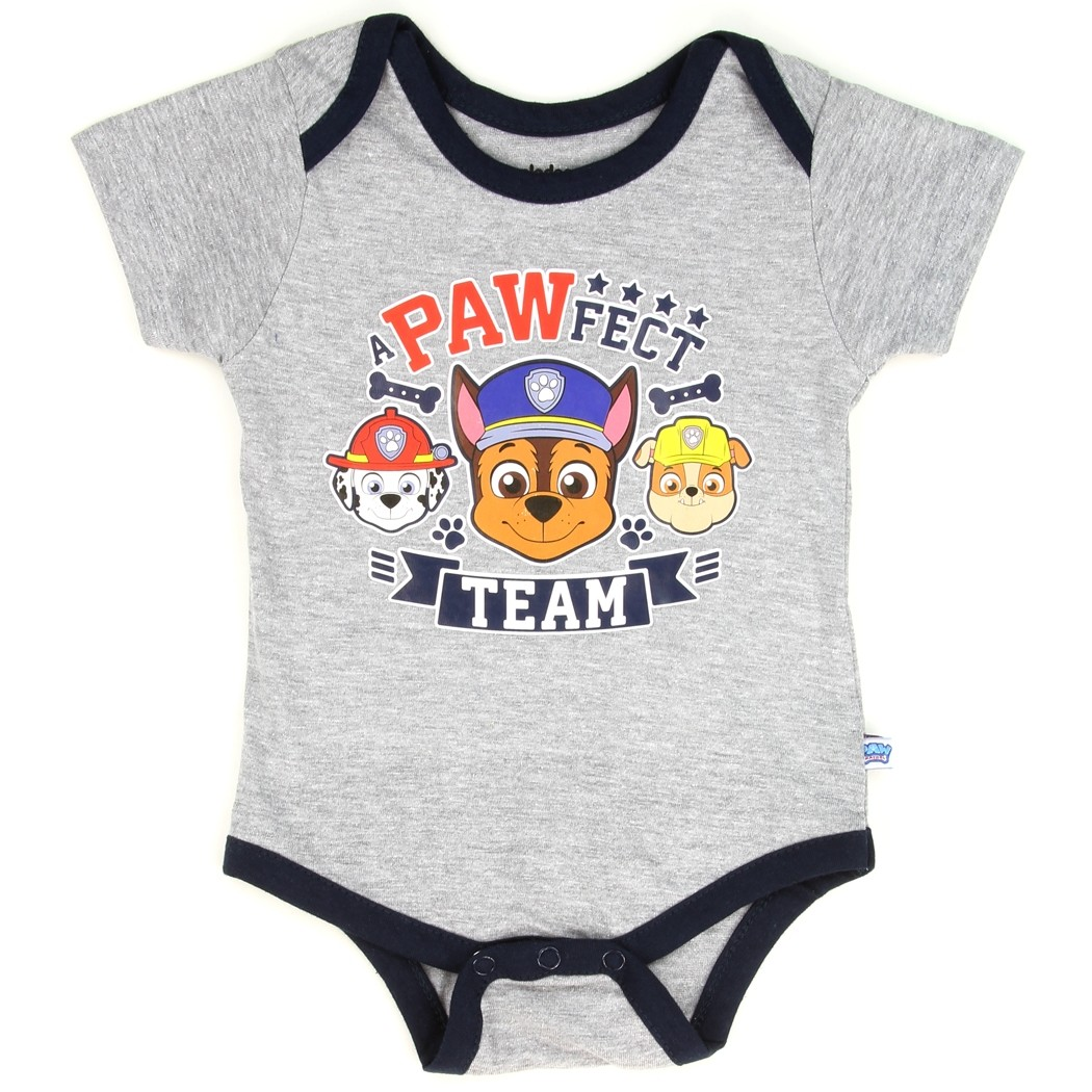 26cc05995 Paw Patrol A Pawfect Team Grey Onesie With Chase Marshall And Rubble