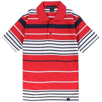 Street Rules Red and White Striped Boys Polo Shirt At Ivey's Gifts & Decor