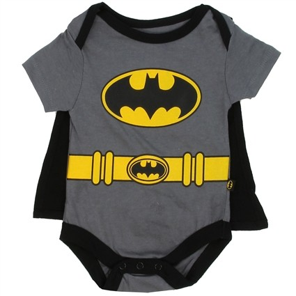 DC Comics Batman Grey Onesie With Detachable Black Cape At Ivey's Gifts & Decor