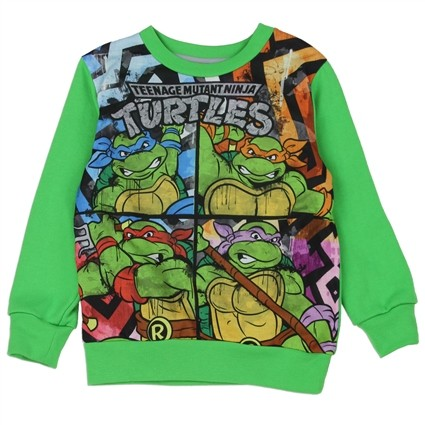 Nick Jr Teenage Mutant Ninja Turtles Green Sublimated Fleece Sweatshirt At Ivey's Gifts & Decor