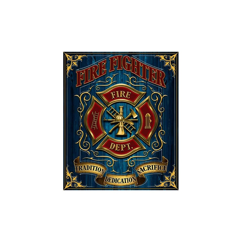 Firefighters Tradition Dedication Sacrifice Fleece Blanket At Ivey's Gifts And Decor