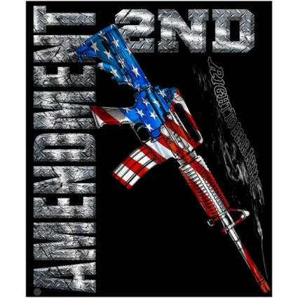 2nd Amendment Right To Bear Arms AR15 Flag Fleece Blanket At Iveys Gifts And Decor Home Decor