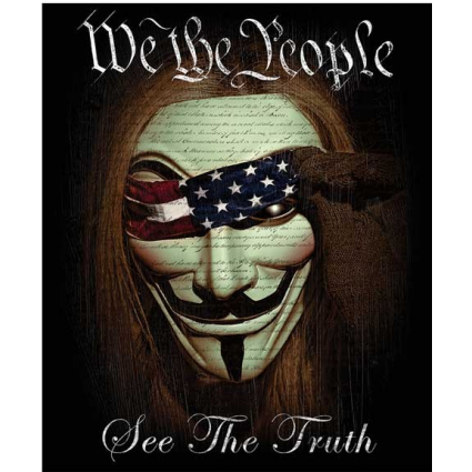 We The People See The Truth Black Fleece Blanket At Ivey's Gifts And Decor