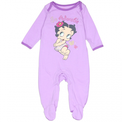 Betty Boop Baby Boop So Adorable Light Purple Footed Sleeper At Ivey's Gifts & Decor