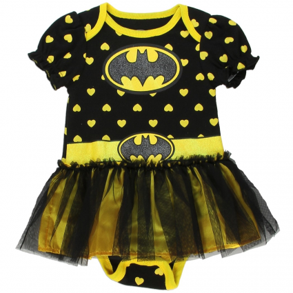 DC Comics Batgirl Black And Yellow Dress Up Tutu Onesie At Ivey's Gifts & Decor Baby Clothes