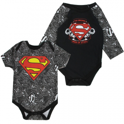DC Comics Superman Long Sleeve And Short Sleeve Onesie Set At Ivey's Gifts & Decor Baby Clothes