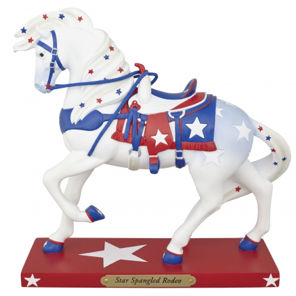 Trail Of Painted Ponies Star Spangled Rodeo Horse Figurine