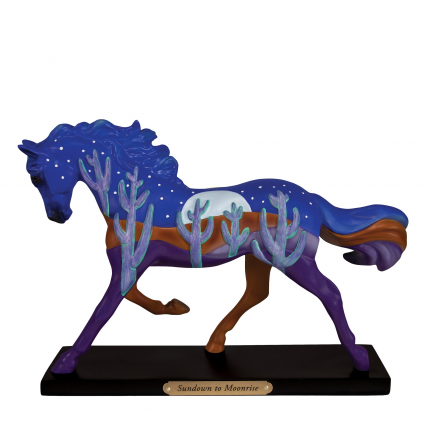 Trail Of Painted Ponies Sundown To Moonrise Horse Figurine At Ivey's Gifts & Decor