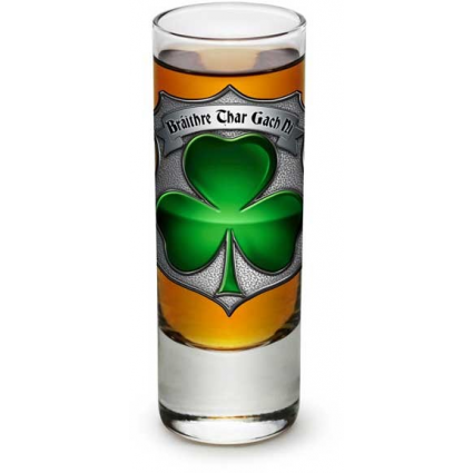 Erazor Bits Irish Brotherhood Law Enforcement Shot Glass At Ivey's Gifts and Decor