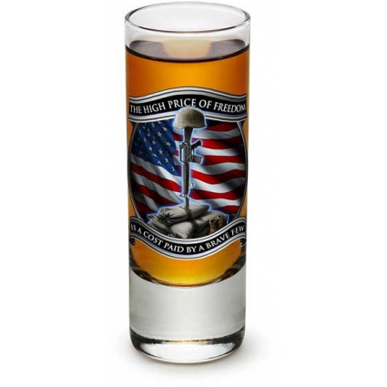 THe High Price Of Freedom Is A Cost Paid By A Brave Few Military Shot Glass Ivey's Gifts And Decor