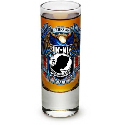 POW Tue Heroes Are The Ones Who Never Made It Home Shot Glass At Ivey's Gifts And Decor