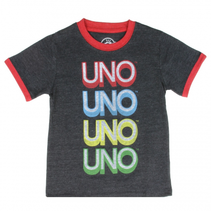 Toddler Boys Toybox Treasures Uno Heather Charcoal Short Sleeve Shirt At Ivey's Gifts And Decor