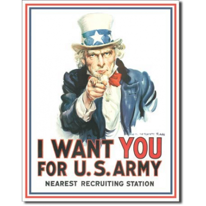 Desperate Enterprises Uncle Sam Wants You Tin Sign Ivey's Gifts and Decor