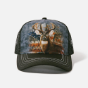 The Mountain Artwear Patriotic Buck American Flag Trucker Hat Ivey's Gifts and Decor The Woodlands Texas