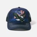 The Mountain Artwear Eagle Talon Bald Eagle And Flag Trucker Hat Ivey's Gifts and Decor