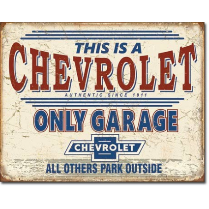 This Is A Chevy Parking Only Garage All Others Park Outside Tin Sign Ivey's Gifts and Decor