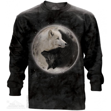 The Mountain Artwear Yin Yang Wolves Unisex Long Sleeve Shirt Ivey's Gifts And Decor