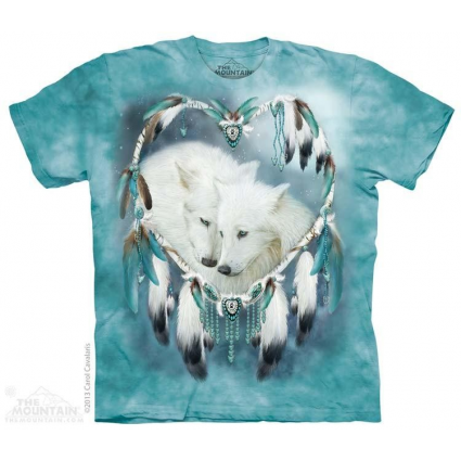 The Mountain Artwear Company Wolf Heart Ladies Shirt Ivey's Wolf And Decor