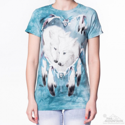 The Mountain Artwear Wolf Heart Slightly Fitted Ladies Shirt Ivey's Gifts And Decor