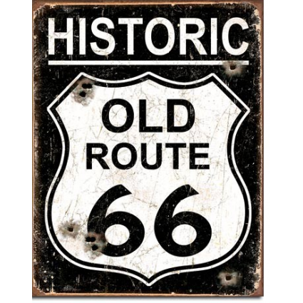 Desperate Enterprises Historic Old Route 66 Tin Sign Ivey's Gifts and Decor