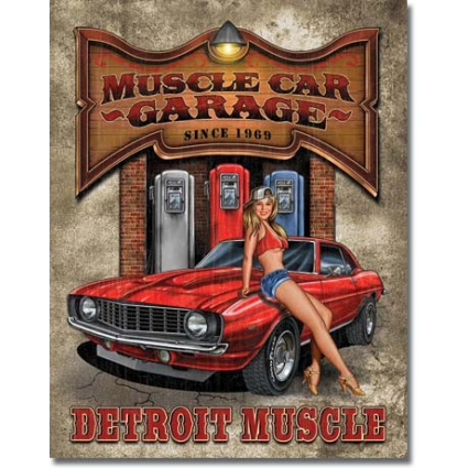 Desperate Enterprise Muscle Car Garage Detroit Muscle Tin Sign Ivey's Gifts And Decor