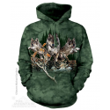 The Mountain Artwear Find 12 Wolves Hidden Images Adult Unisex Hoodie Ivey's Gifts And Decor