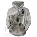 The Mountain Artwear Singing Lesson Wolf Adult Pullover Hoodie Ivey's Gifts And Decor