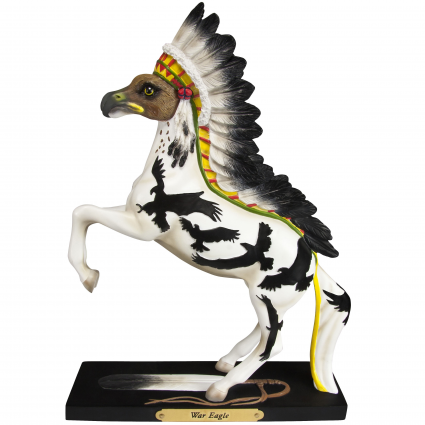 Trail Of Painted Ponies War Eagle Horse Figurine