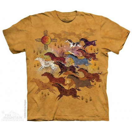 The Mountain Artwear Horses And Sun Unisex Adult Shirt Ivey's Gifts and Decor
