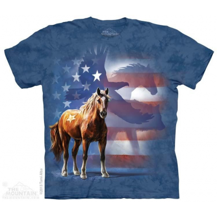 The Mountain Artwear Wild Star Horse Flag Adult Shirt Ivey's Gifts and Decor