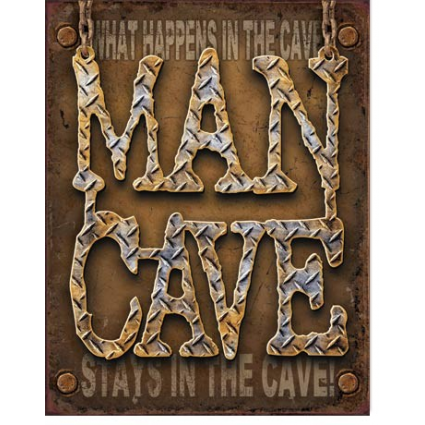 What Happens In The Cave Stays In The Cave Tin Sign Ivey's Gifts and Decor