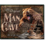 Bear Fishing The Original Man Cave Tin Sign Ivey's Gifts and Decor