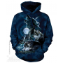 The Mountain Artwear Bark At The Moon Wolf Pullover Hoodie Ivey's Gifts and Decor