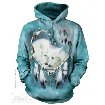 The Mountain Artwear Carol Cavalaris Wolf Heart Pullover Hoodie Ivey's Gifts and Decor