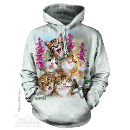 The Mountain Artwear Kitten Selfie Pullover Hoodie