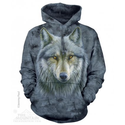 The Mountain Artwear Warrior Wolf Pullover Hoodie Ivey's Gifts and Decor