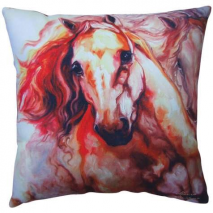Thunder Horse Decorative Pillow From The Artist Marcia Baldwin Ivey's Gifts and Decor