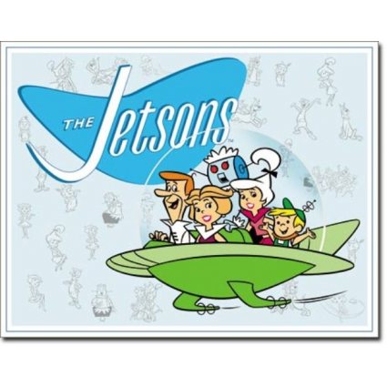 Desperate Enterprise The Jetson Family Tin Sign Ivey's Gifts And Decor
