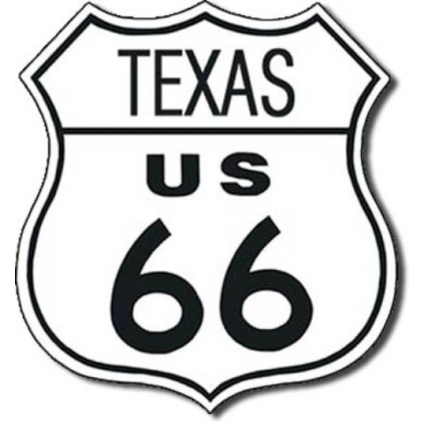 Desperate Enterprises Texas Route 66 Metal Replica Road Sign Ivey's Gifts and Decor