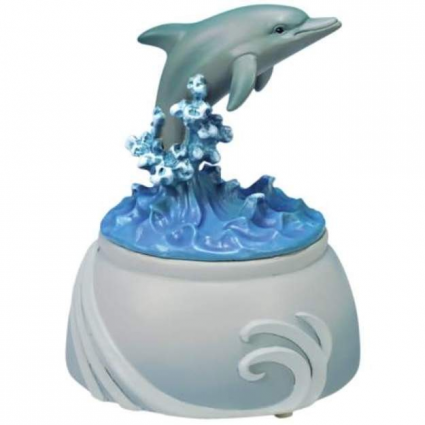 Westland Giftware Jumping Dolphin Music Box Ivey's Gifts and Decor
