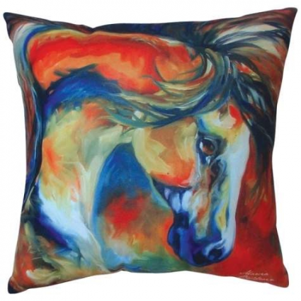 Mustang West Decorative Pillow From The Artist Marcia Baldwin Ivey's Gifts and Decor