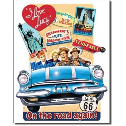 Desperate Enterprises I Love Lucy On The Road Again Lucy and Ricky Fred and Ethel Iveys Gifts And Decor