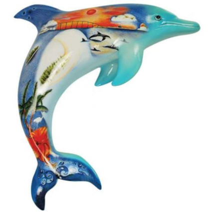 Westland Giftware Sea Life Artist Nora Butler Dolphin Dream Ceramic Figurine Ivey's Gifts and Decor