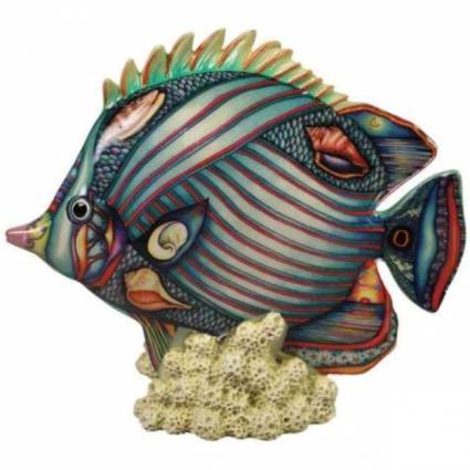 Westland Giftware Nora Butler Shell Fish Ceramic Figurine Ivey's Gifts and Decor