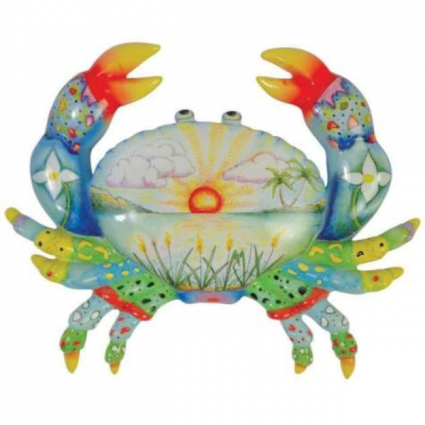 Westland Giftware Tropicool Crab Ceramic Figurine From The Artist Nora Butler Ivey's Gifts and Decor
