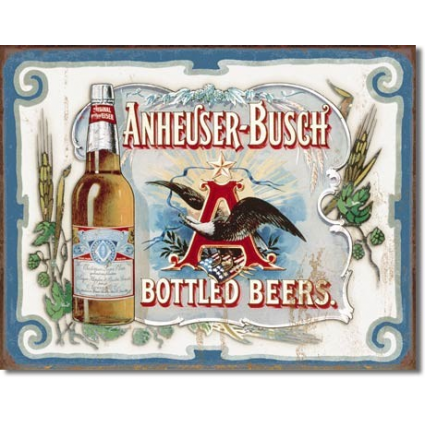 Desperate Enterprises Anheuser Busch Budweiser Beer Eagle Tin Sign Ivey's Gifts and Decor