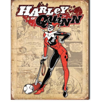 DC Comics Harley Quinn With Her Mega Pounder Tin Sign Ivey;s Gifts And Decor